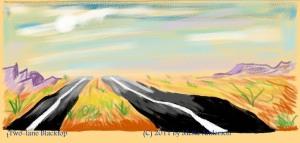 Arizona highway toward Nogales
